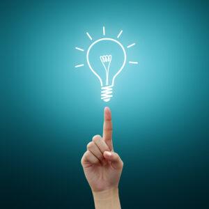 Bild: stilisierte Glühbirne