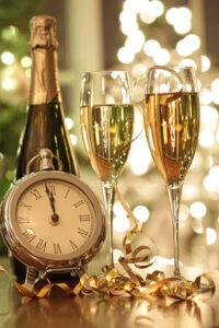 Champagner an Silvester