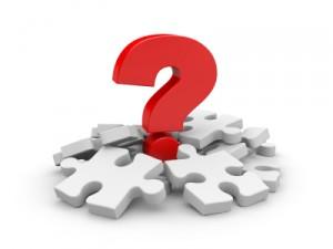 Bild: Fragezeichen mit Puzzleteilen