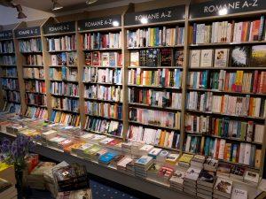 Bücher in einer Buchhandlung