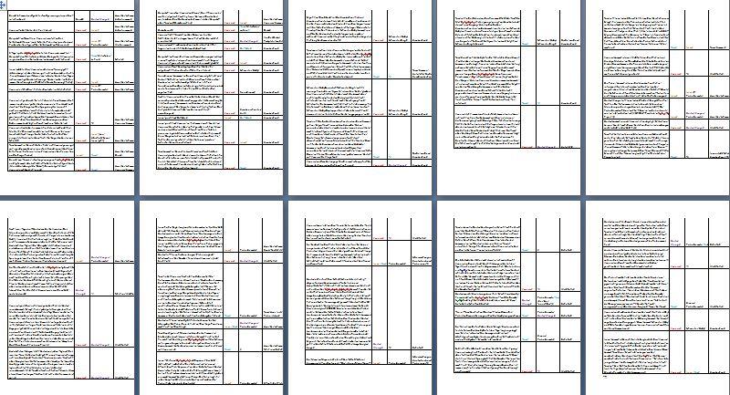 Szenenplan aktuelles Manuskript